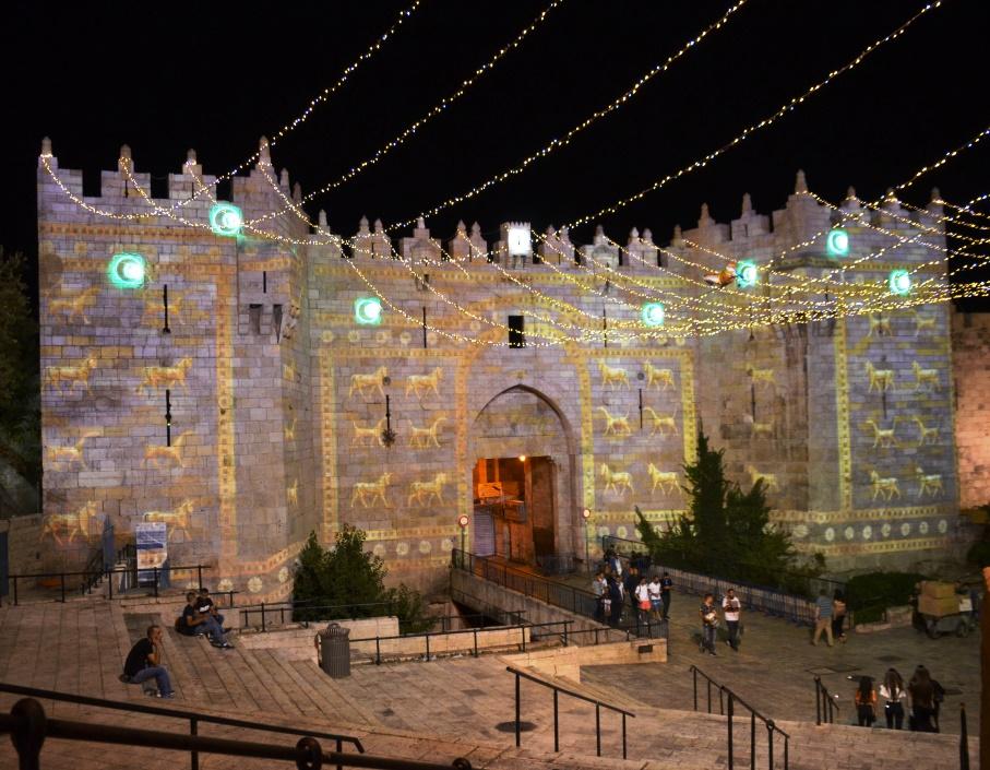 Jerusalem 2017 Light Festival Damascus Gate