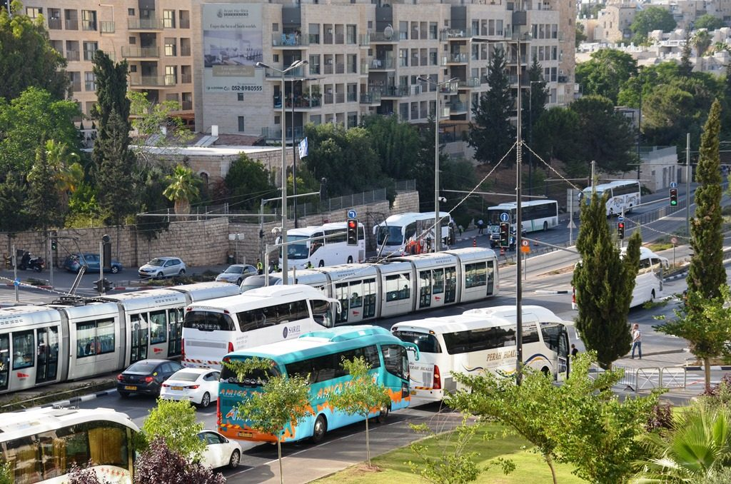 Jerusalem Israel Friday for Ramadan street closing and traffic