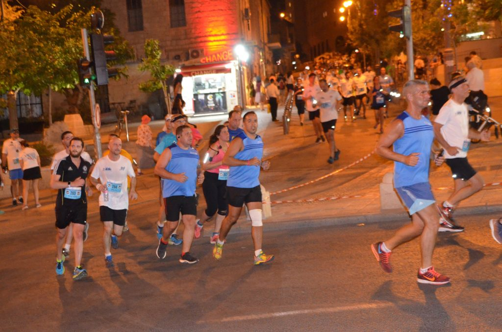Jerusalem Israel Maccabiah Night Run