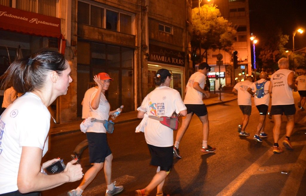 runners Jerusalem Maccabiah Night run