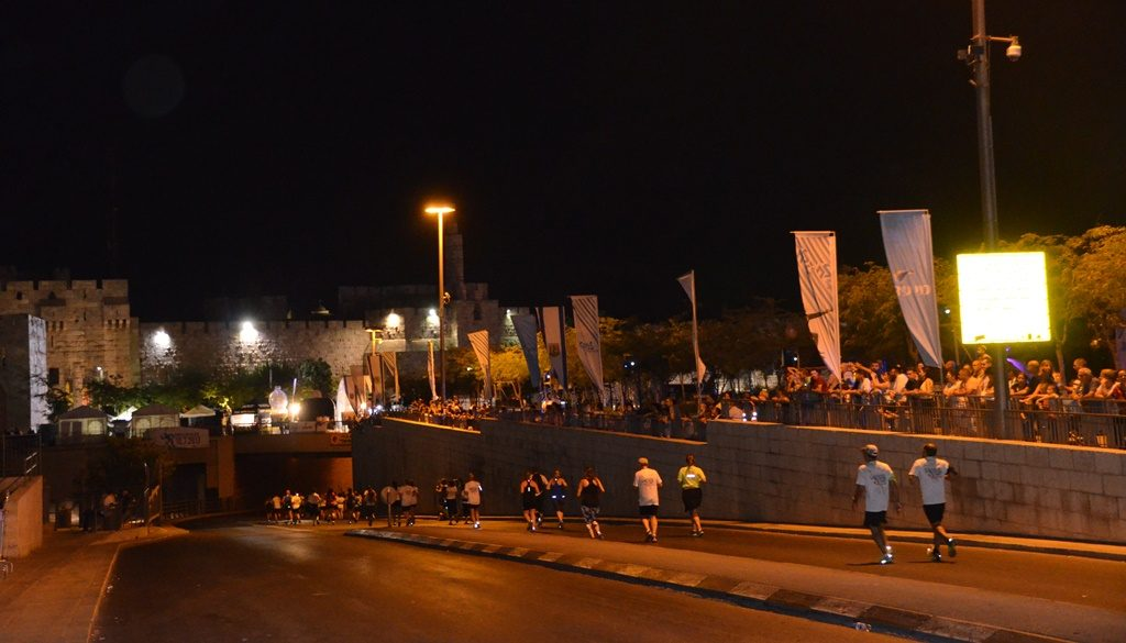 Street closed due to Jerusalem Maccabiah Night Run