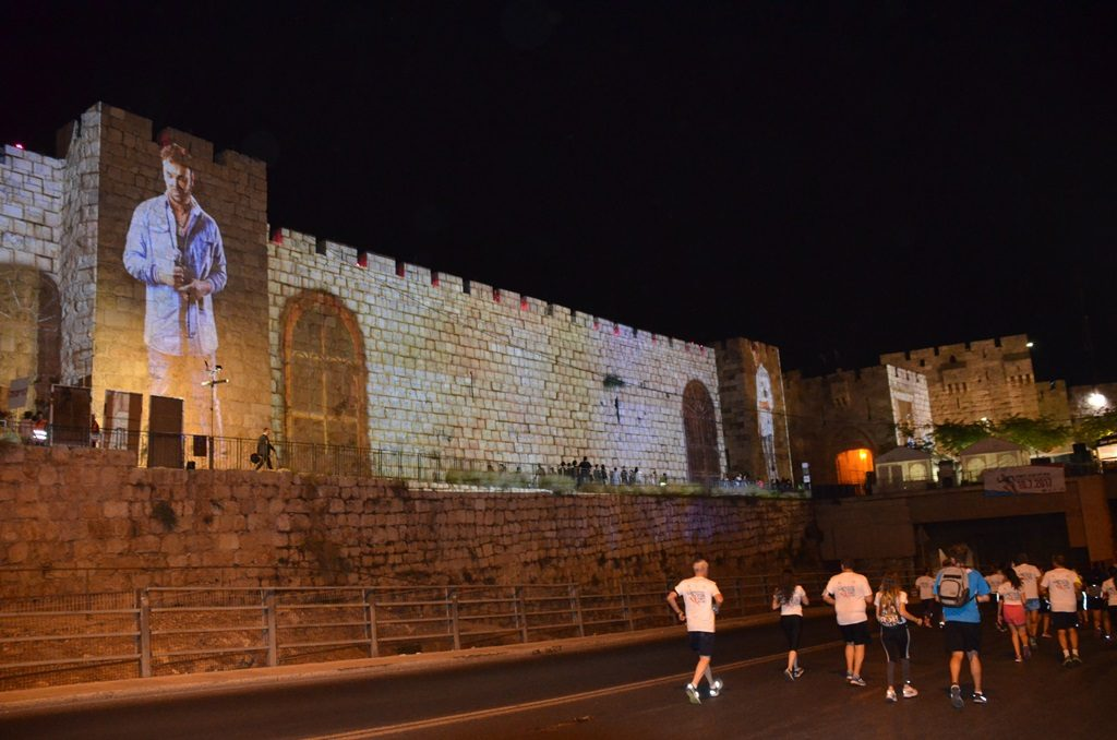 Light projection on Walls of Old City