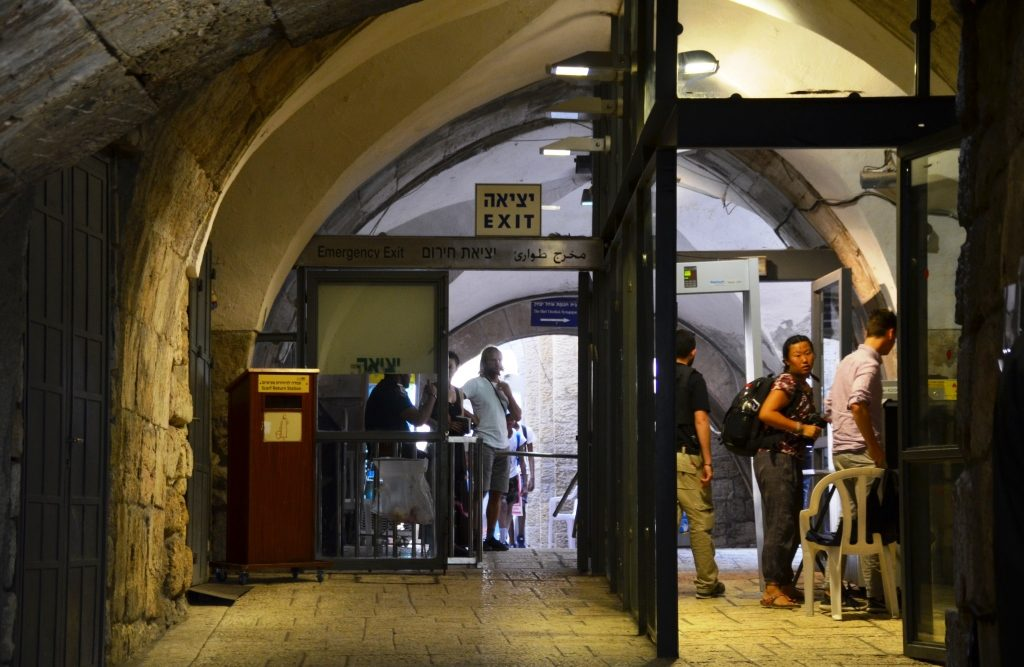 Jerusalem Israel Old City metal detectors