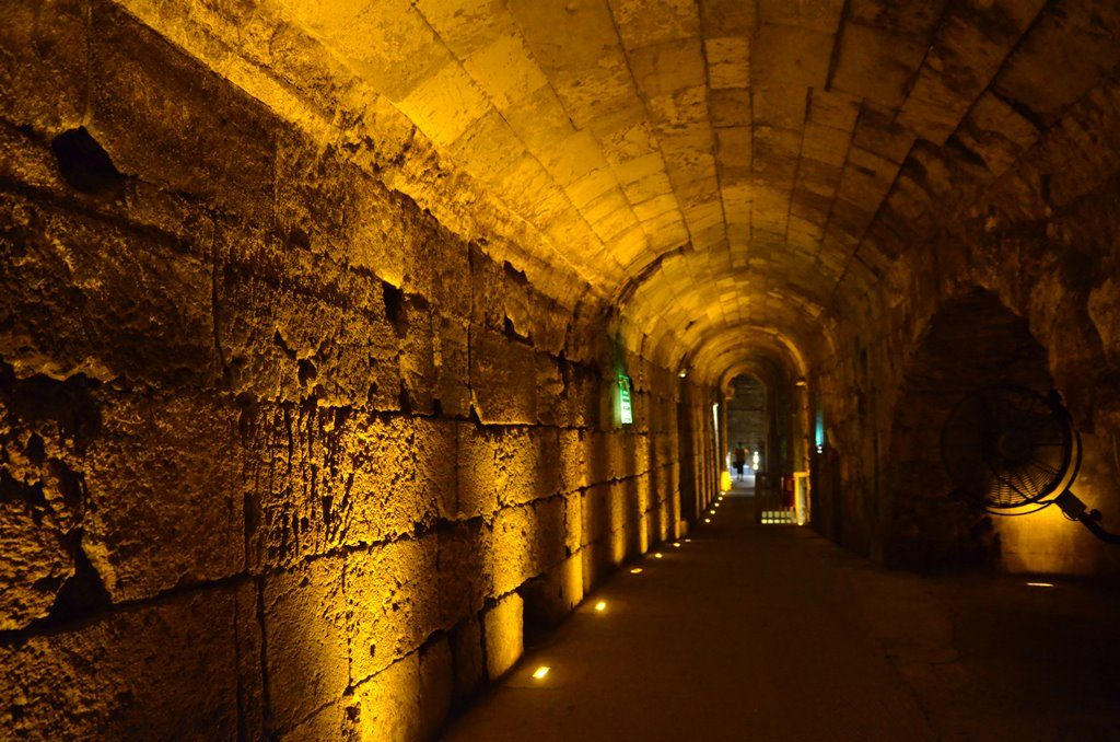 Western Wall tunnels under Jerusalem streets