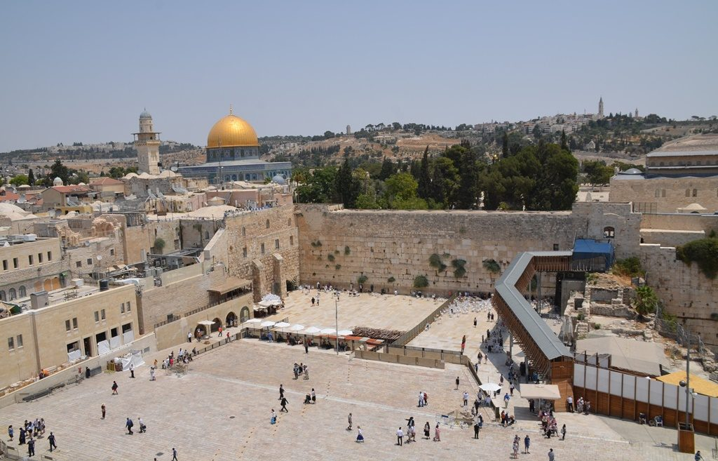 View of Temple Mount and Western Wall from Aish Hatorah