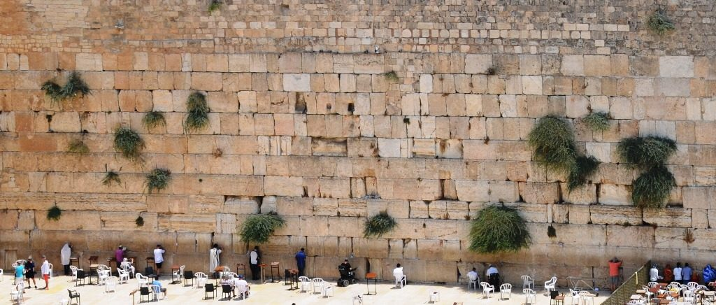 View of Kotel from above cropped to show few people