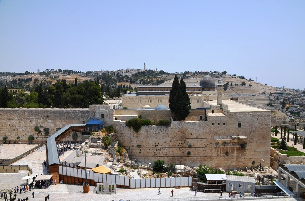 View of AlAqsa Mosque from roof of Aish Hatorah