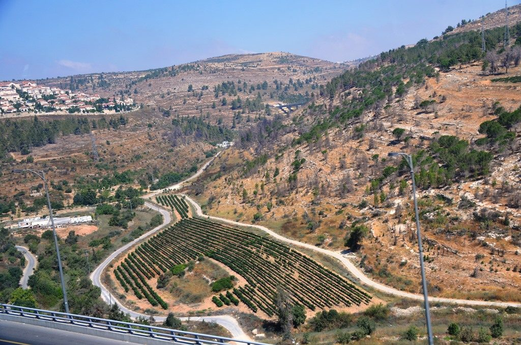 New roads outside Jerusalem Israel