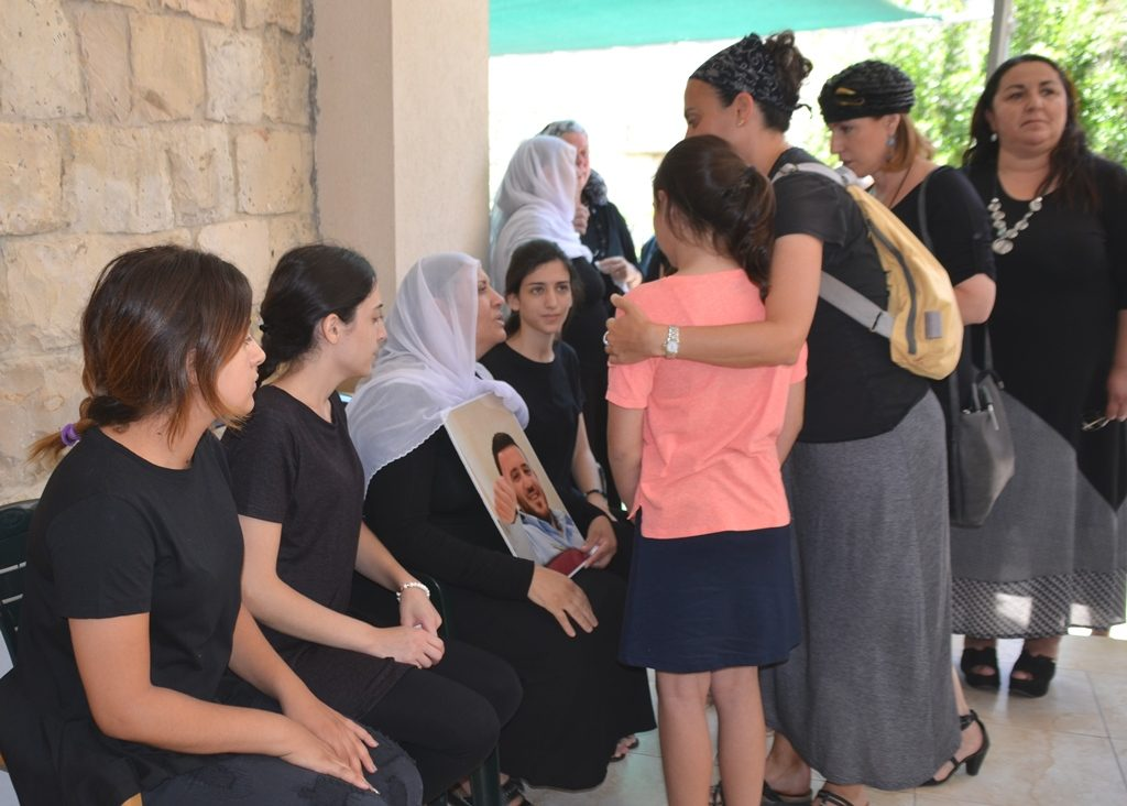Female members of Kamil Shnaan family mourning his murder in Jerusalem Temple Mount