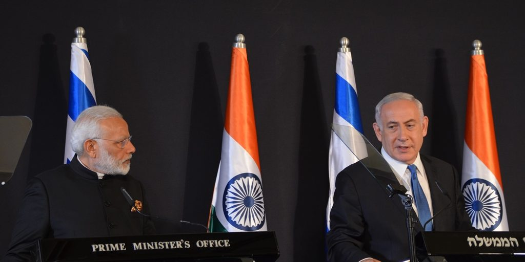 Prime Ministers Israel and India at press conference