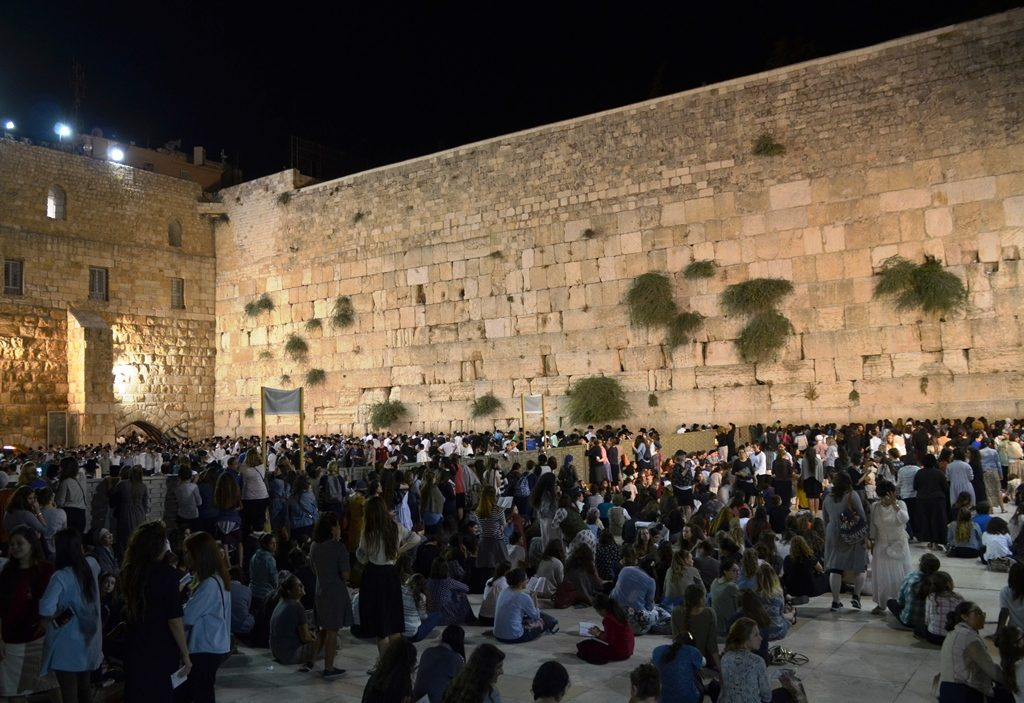 Tisha BAv Kotel at night