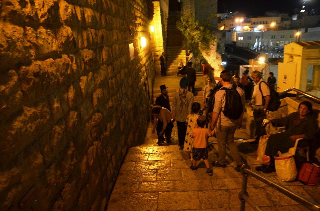 street on Tisha B'Av night