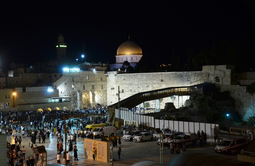 Night time at Kotel,