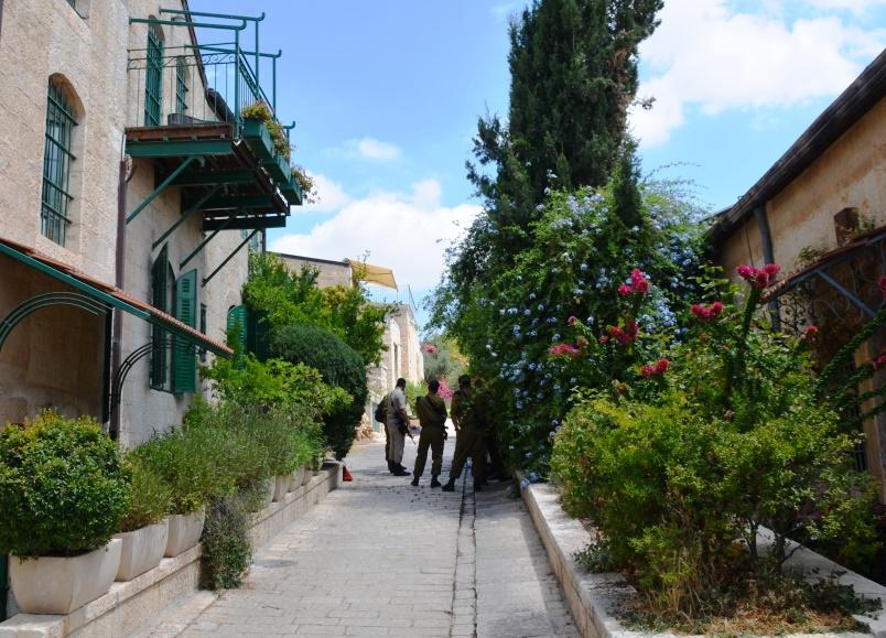 Yemin Moshe Street in Jerusalem, Israel