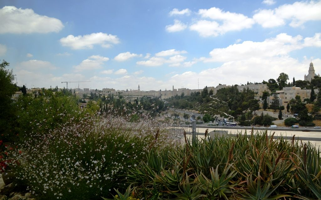 Old City Jerusalem view from St Andrews