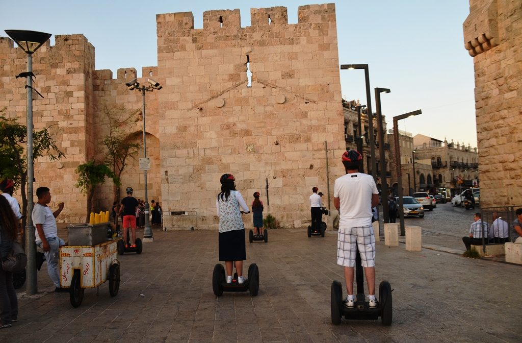 Jerusalem, Israel Old City Yafo Gate segwey riders