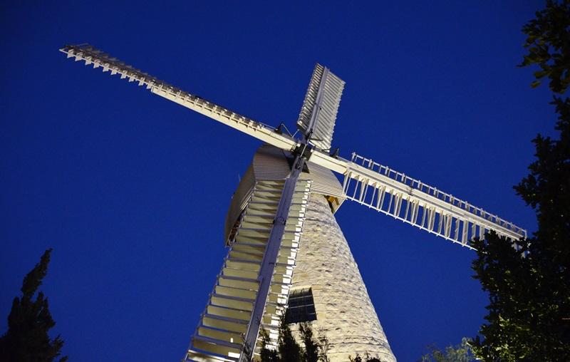 Montefioure Windmill Yemin Moshe Jerusalem Israel