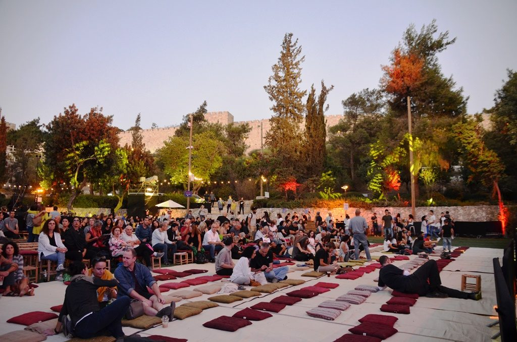 Mitchell Garden in Jerusalem, Israel ready for music festival featuring Arab music