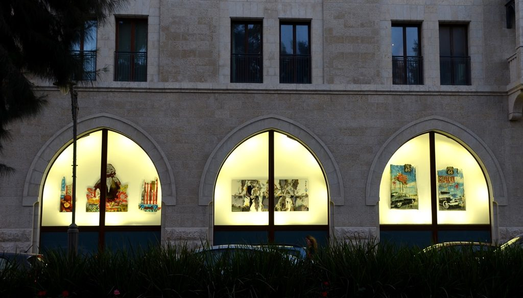 Waldorf Astoria Jerusalem Israel new window display