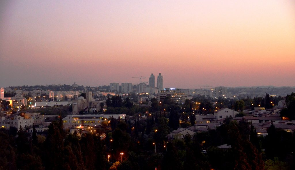 Jerusalem Israel sunset view