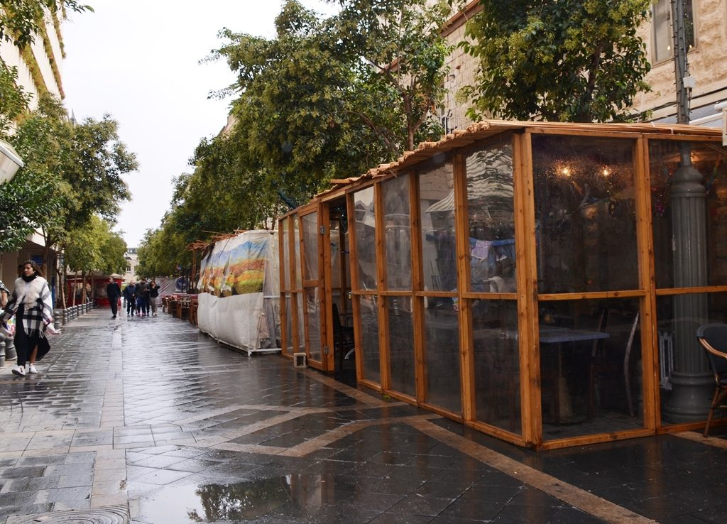 Rain in Jerusalem Israel on Sukkot