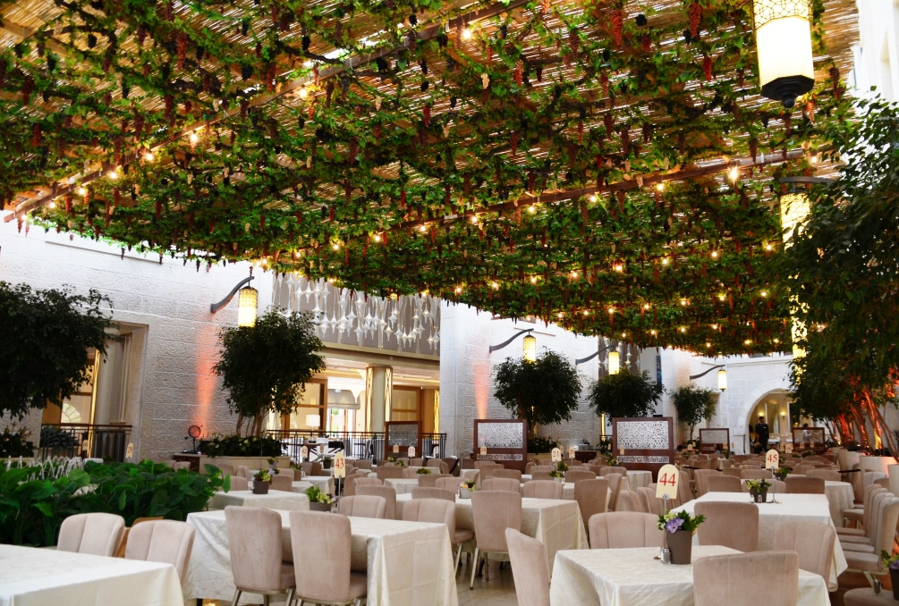 Sukkah at Jerusalem Waldorf Astoria after hard rain