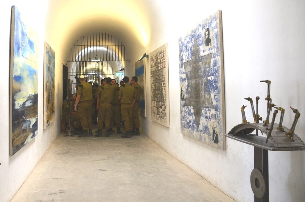 Jerusalem Israel art exhibit in Museum of Underground Prisoners in Jerusalem