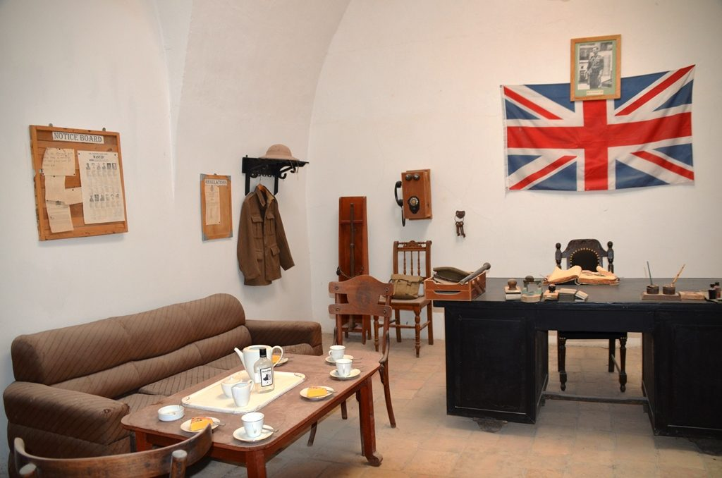 Commander's office British Mandate in Underground Prisoner's Museum
