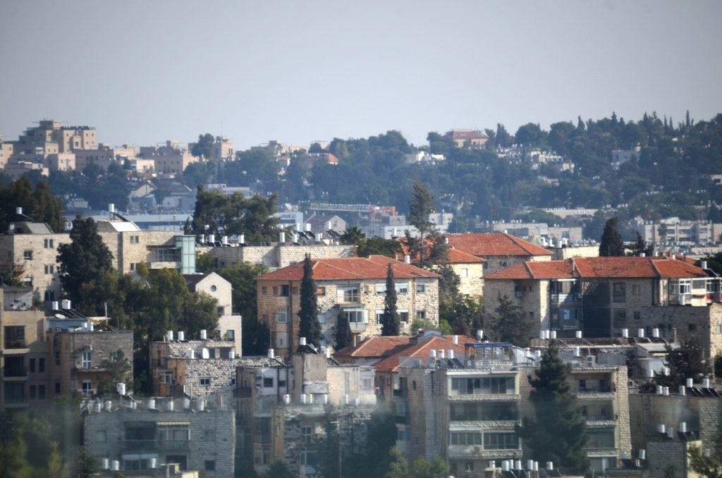 View of Jerusalem Israel from Knesset building