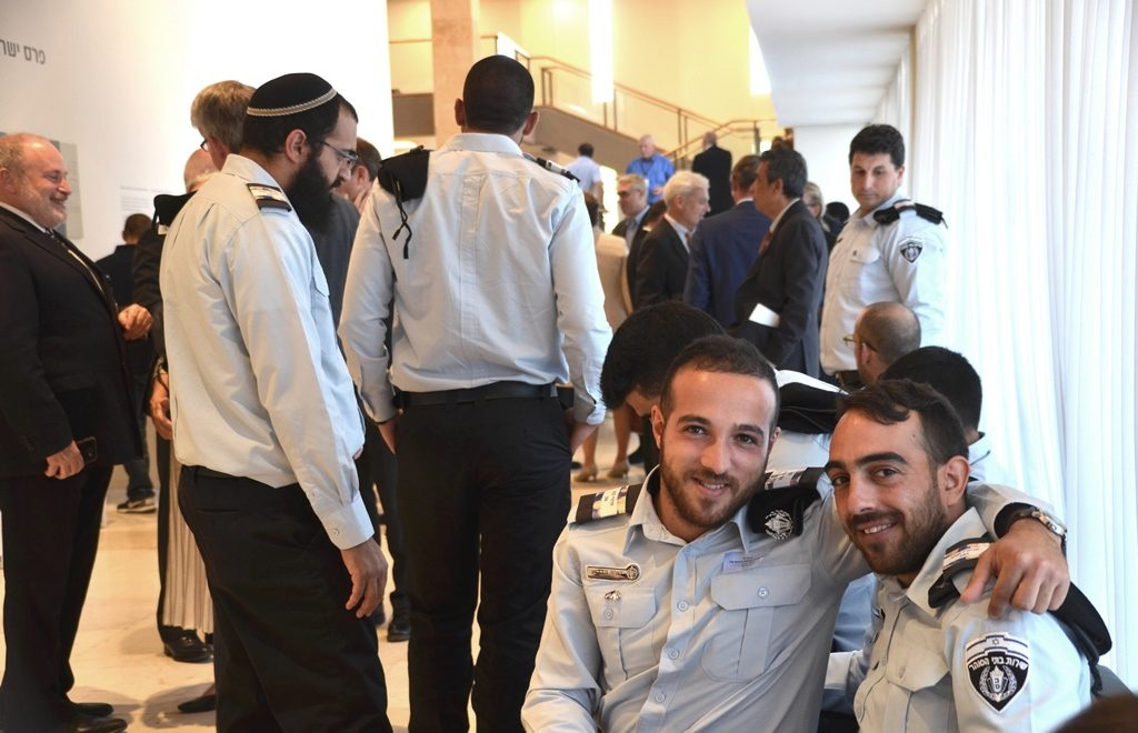 Visitors to Knesset for opening session fall 2107