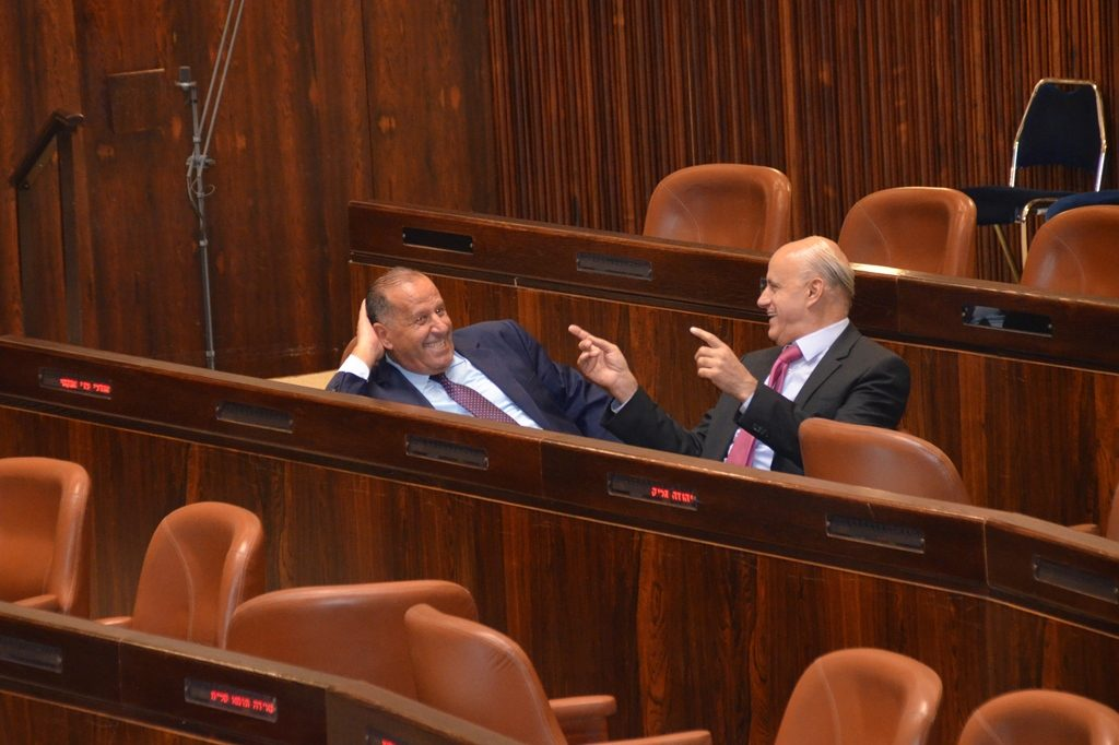 Arab MKs in Knesset before opening session
