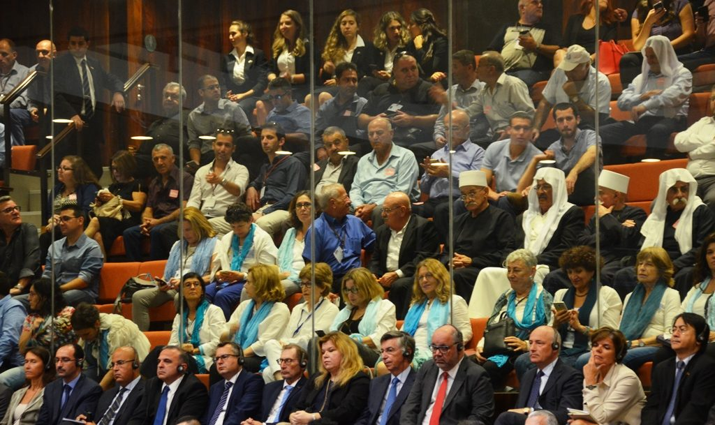 Gallery at opening session of Israel Knesset