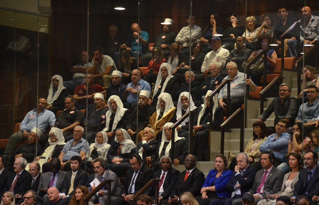 Visitors at opening session Israeli Knesset
