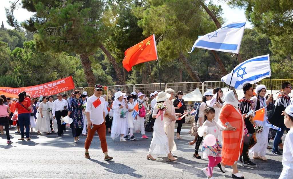 China participants in Jerusalem March