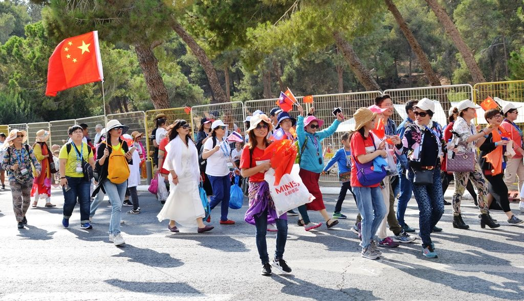 China participants in Jerusalem parade