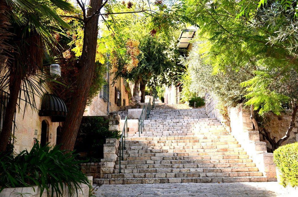 Steps in Yemin Moshe Jerusalem Israel