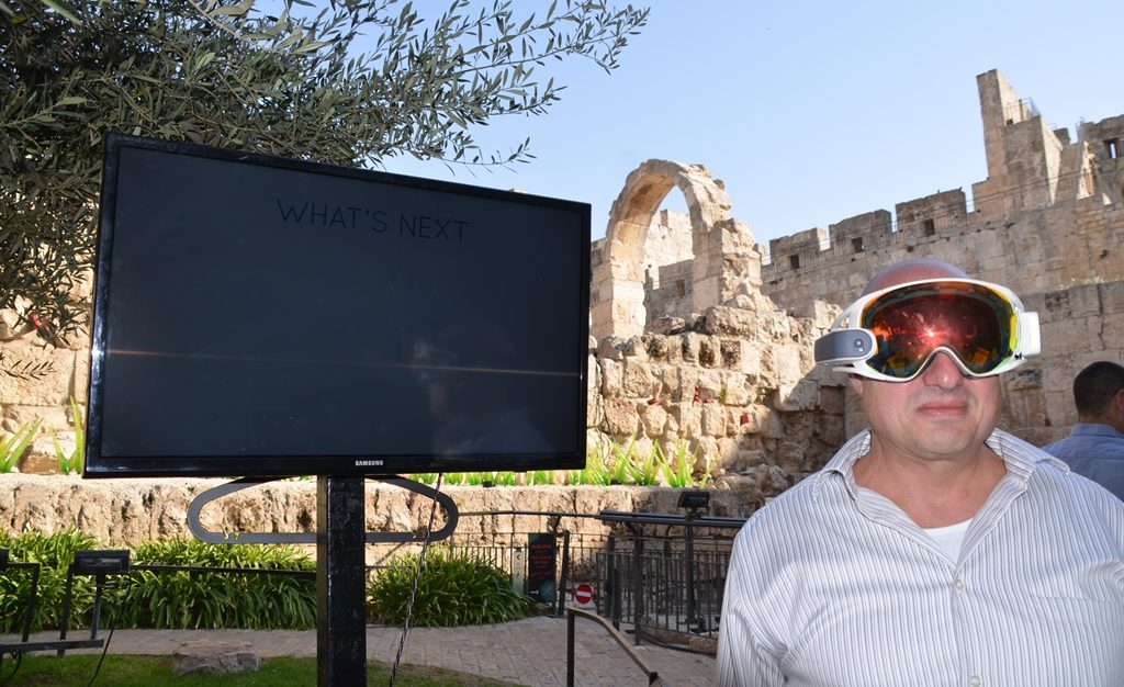 Innovation Lab launch virtual reality glasses in Tower of David