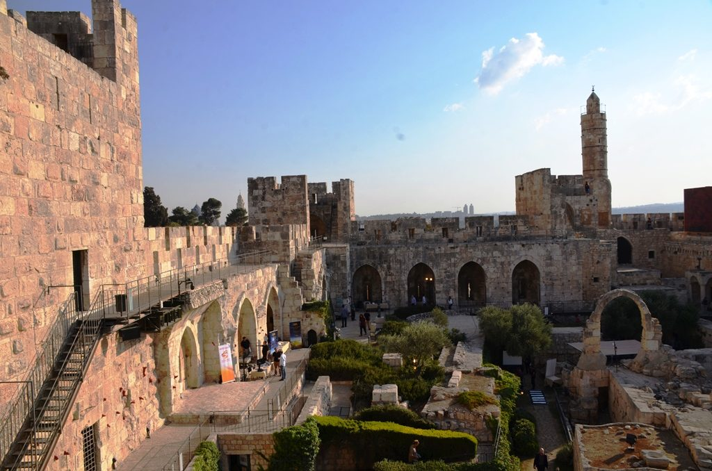 View inside the Tower of David fortress