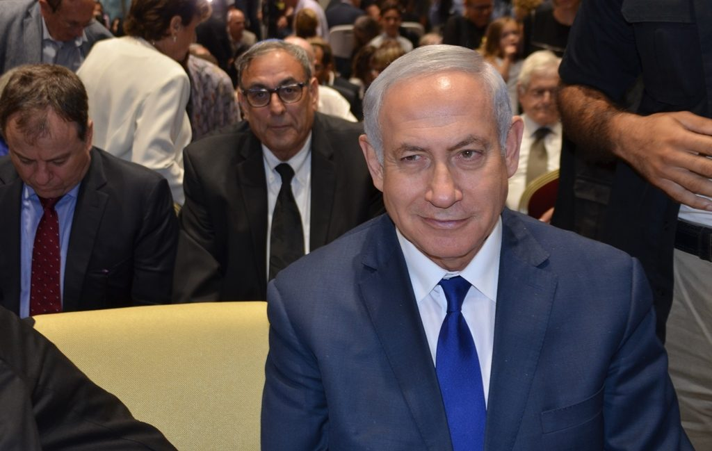 close up of Prime Minister Benjamin Netanyahu