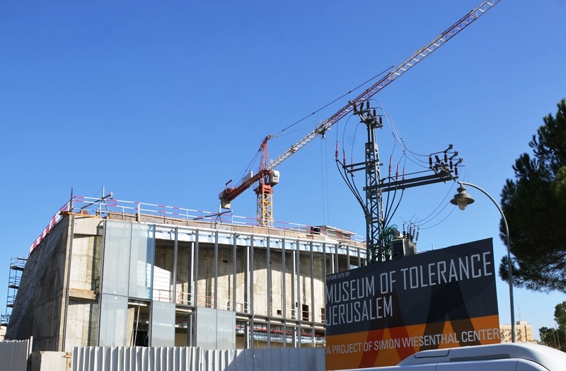 Museum of Tolerance construction and sign
