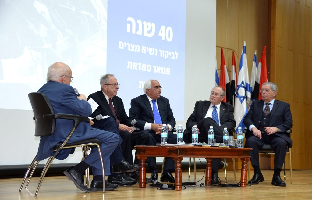 Panel Moshe Arens and Eil Rubenstein in Knesset auditorium