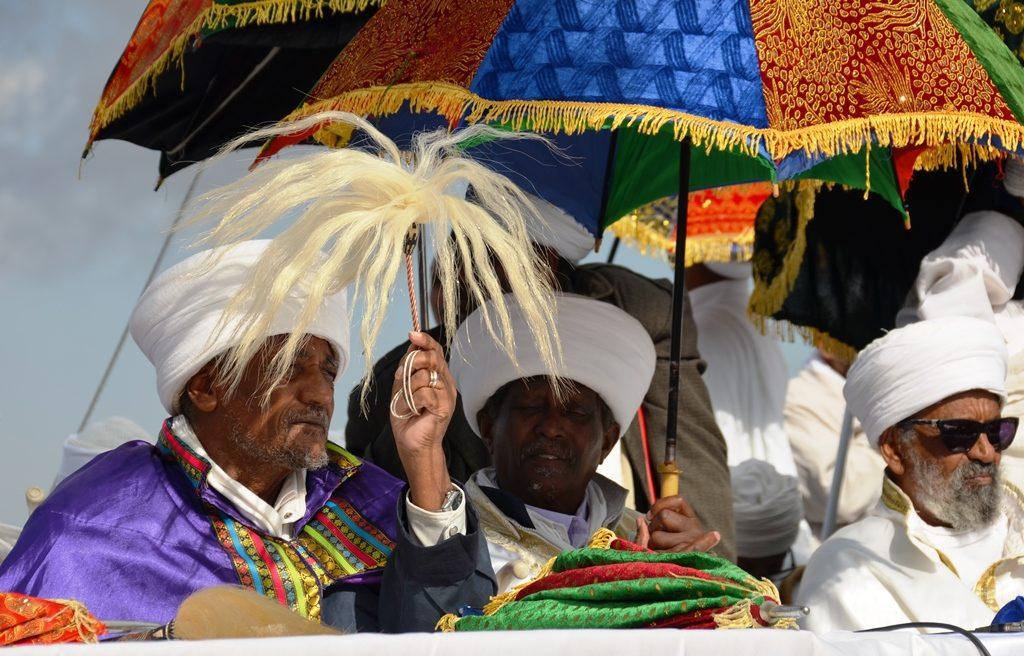 Ethiopian religious leaders in Jerusalem Israel Sigd