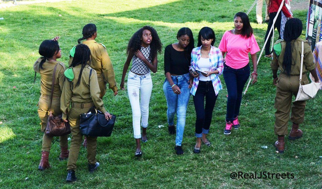 Young female IDF soldiers on Tayelet for Sigd celebration