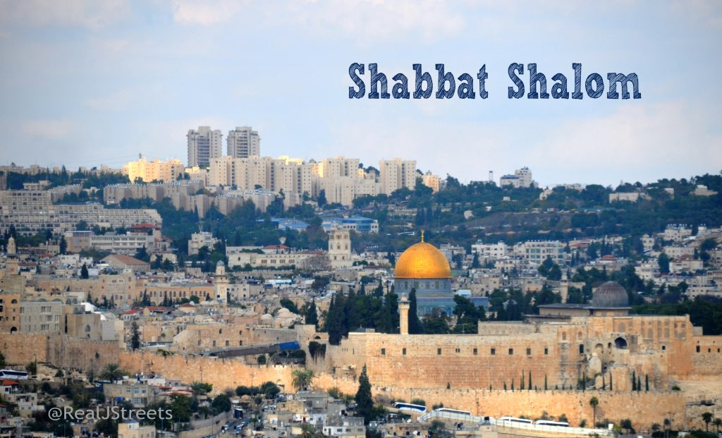 Shabbat Shalom from the Tayelet view of Old City Temple Mount