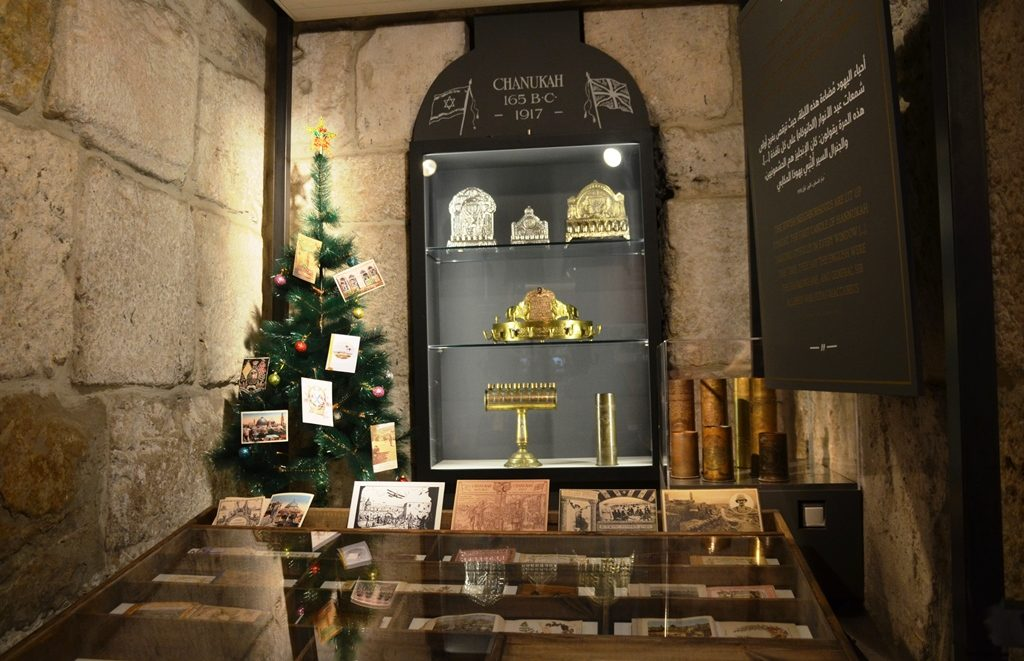Exhibit in Tower of David Museum for 100 years Allenby