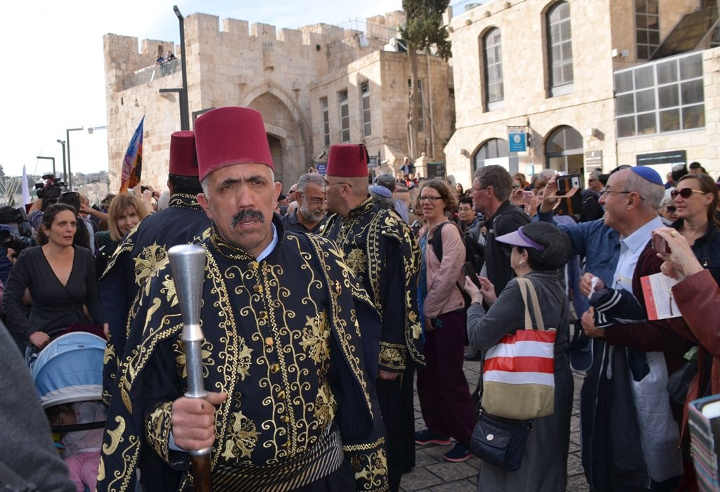 100 years after actor dressed as General Allenby enters Jaffa Gate Jerusalem Israel