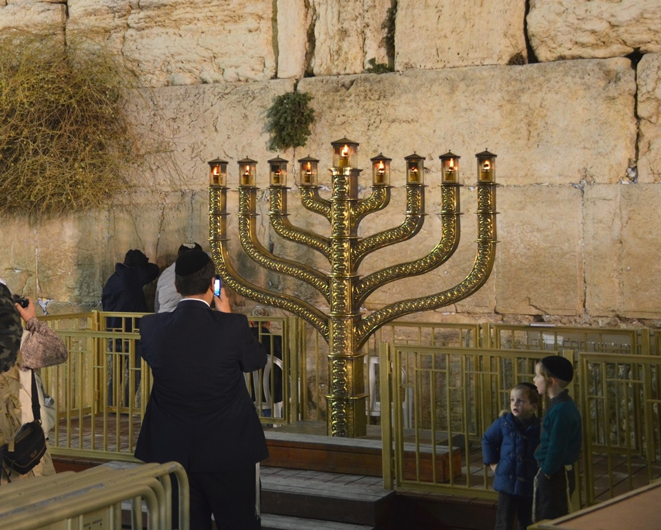 Jerusalem, Israel on Hanukkah 5778