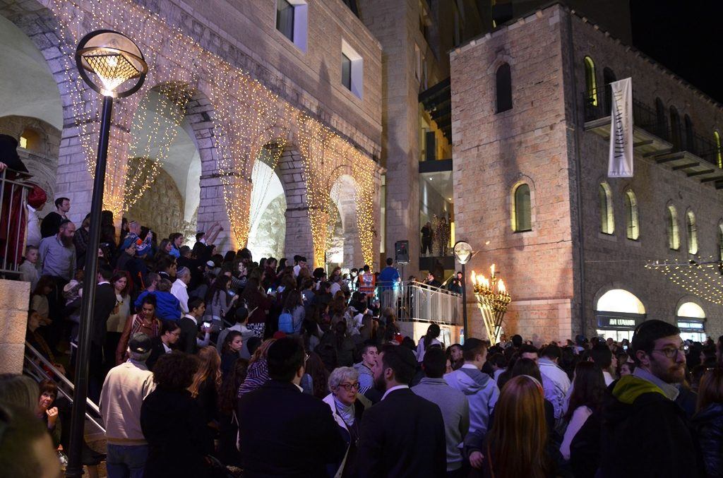 Mamilla Mall Hanukkah ceremony