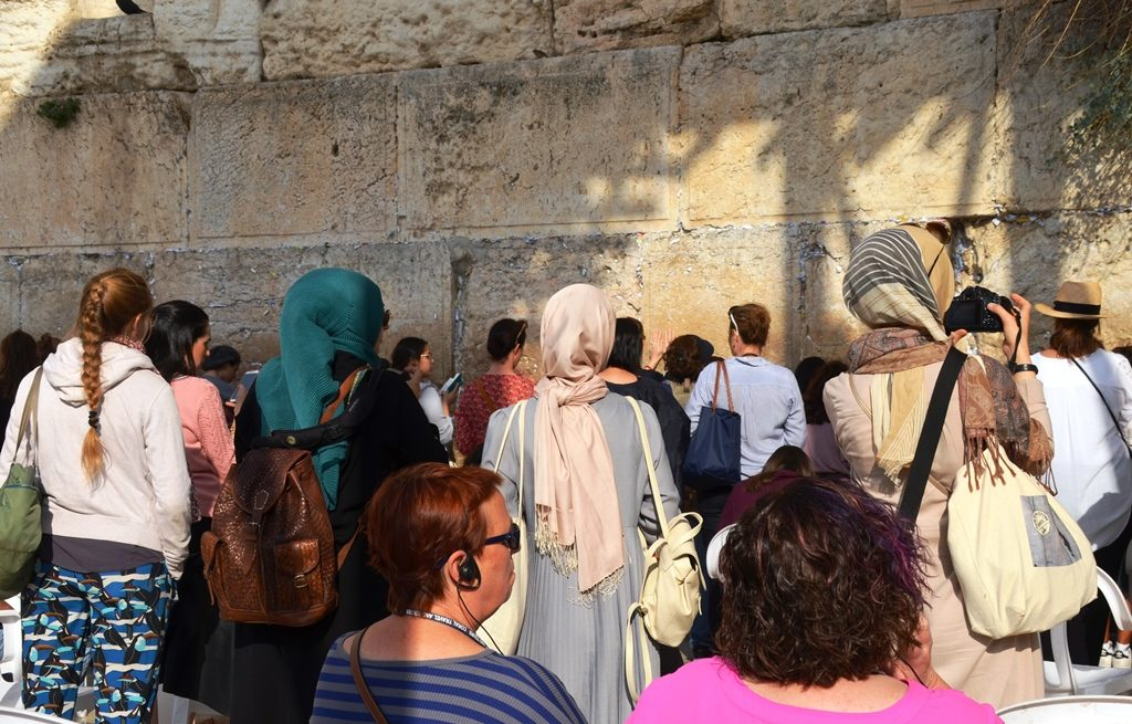 Arab girls close to Kotel