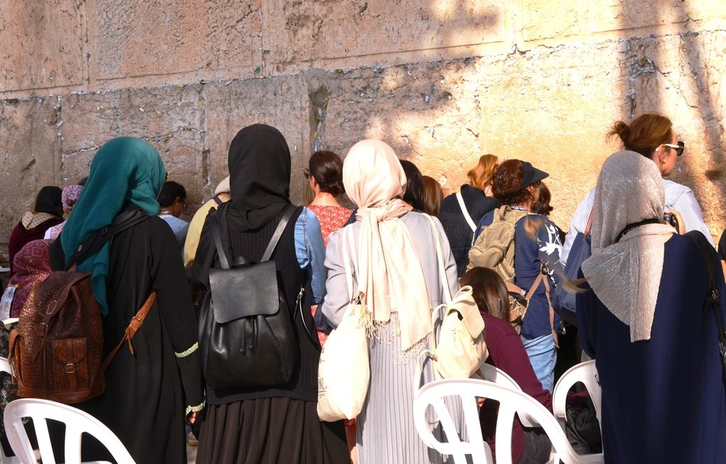 Muslim women at Kotel